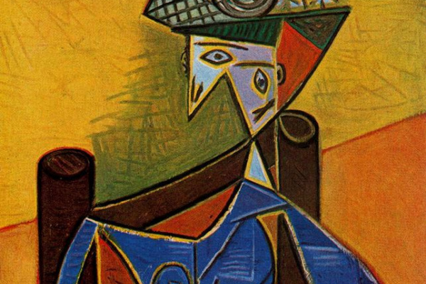Pablo Picasso. Woman sitting in chair