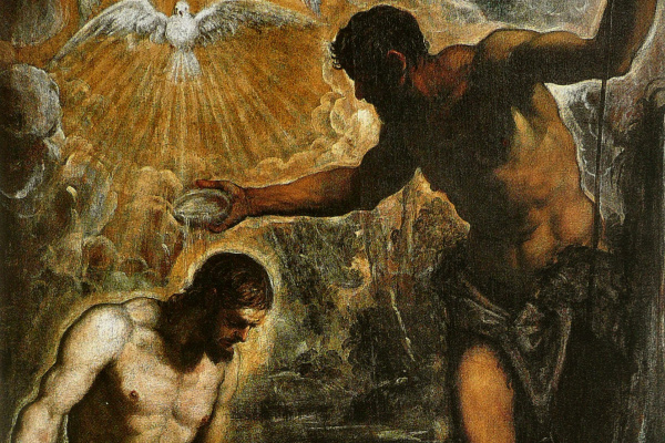 Jacopo Tintoretto. The Baptism Of Christ