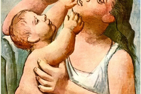Pablo Picasso. Mother and child