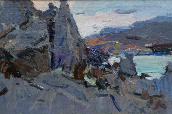 Федор Захарович Захаров. Пейзаж со скалами