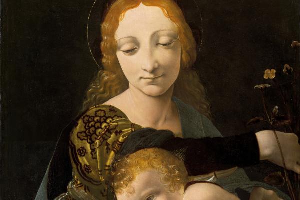 Giovanni Antonio Boltraffio. The virgin and child (Madonna of the Roses)