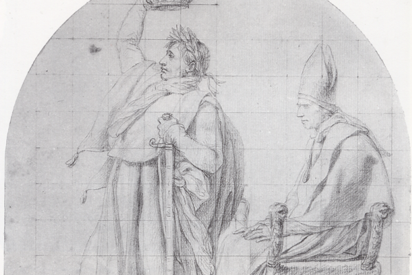Жак-Луи Давид. Коронующий себя Наполеон