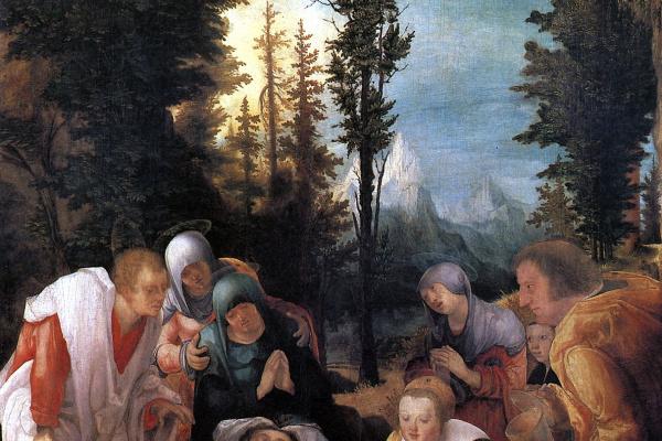 Вольф Хубер. Оплакивание Христа