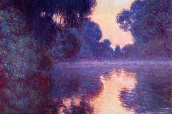 Клод Моне. Восход солнца и Сена рядом с Живерни