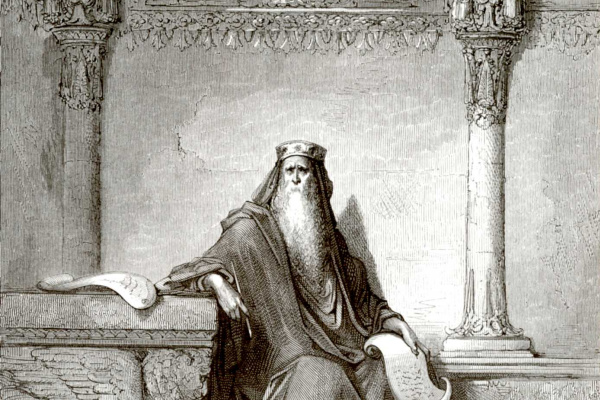 Paul Gustave Dore. Illustration to the Bible: Solomon the wise
