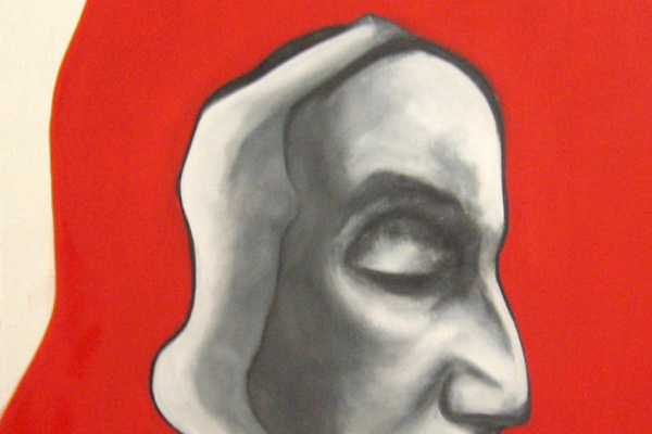 Stanislav Ukrainians. The Thinker.2008. canvas, oil 100x70