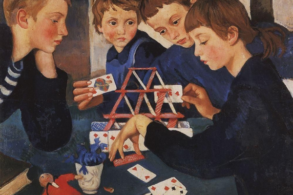 Зинаида Евгеньевна Серебрякова. Карточный домик