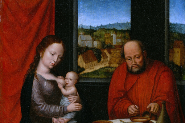 Unknown artist. Holy family. The second half of the 16th century
