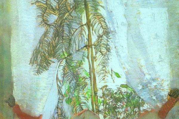Константин Федорович Юон. Окно. Москва. Квартира родителей художника