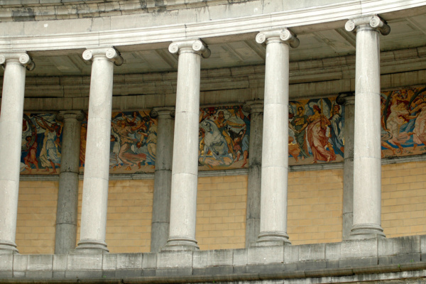 """Jean Delville. A series of mosaics """"Victory"""" of the arcade of Cinquantenare, Brussels"""