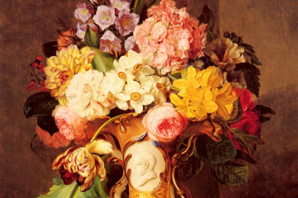Фердинанд Кусс. Натюрморт с вазой