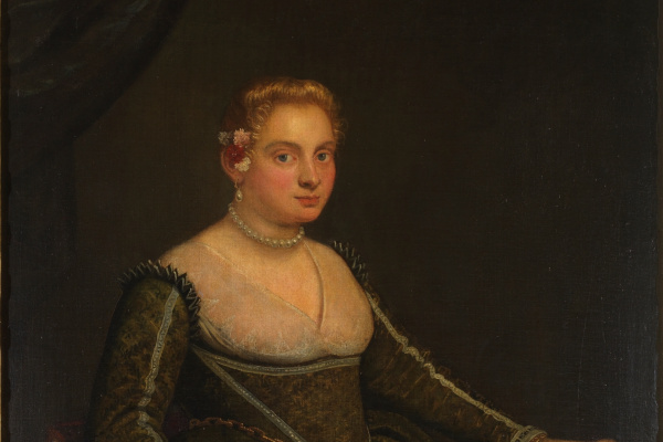Jacopo Tintoretto. Portrait of a young woman