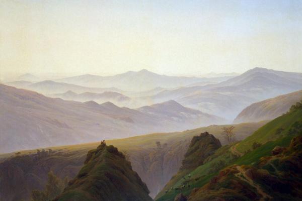 Caspar David Friedrich. Morning in the mountains