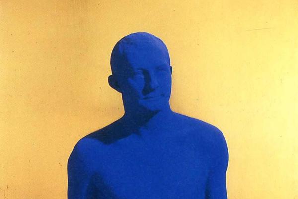Yves Klein. Blue male
