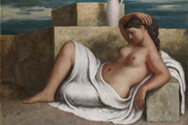 Leonid Isaakovich Frechkop. Reclining Nude. 1952