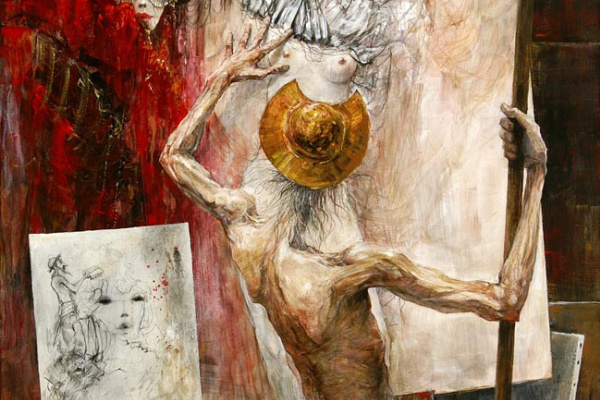 Marcel Pajot. Don Quixote. The creation of the painting