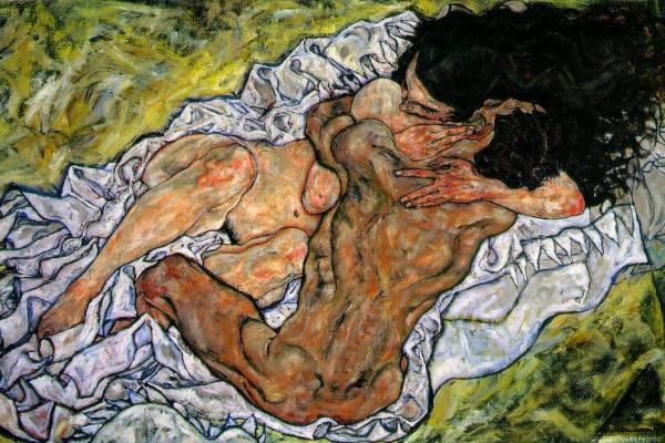 Egon Schiele. The Embrace (Lovers)