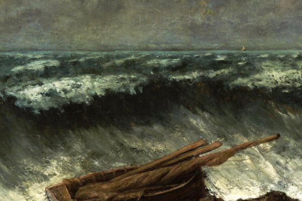 Gustave Courbet. Wave (fragment)
