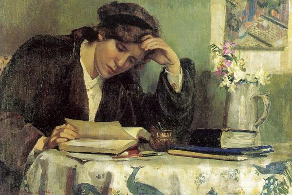 Выщелачивание. Чтение книги за столом