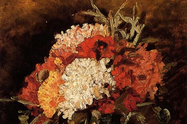 Винсент Ван Гог. Ваза с гвоздиками