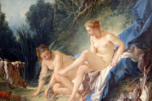Francois Boucher. Bathing Diana