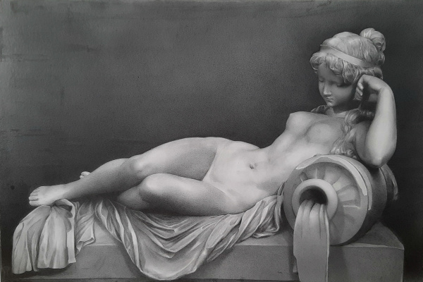 "Sergei Hinz. ""Sleeping Nymph"""