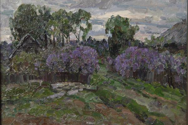 Boris Petrovich Zakharov. Evening. Lilac. (Sketch )