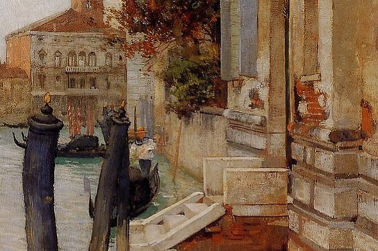 Fritz Taulov. On the Grand canal in Venice