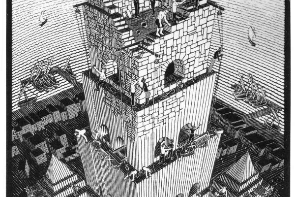 Мауриц Корнелис Эшер. Вавилонская башня