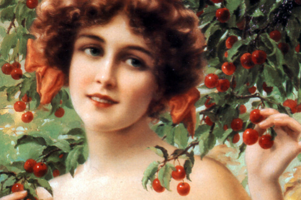 Эмиль Вернон. Девушка под цветущей вишней