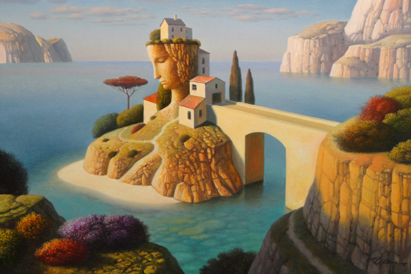 Evgeni (Евгений) Яковлевич Gordiets (Гордиец). Yellow Bridge Island