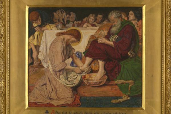 Форд Мэдокс Браун. Иисус омывает ноги Петру