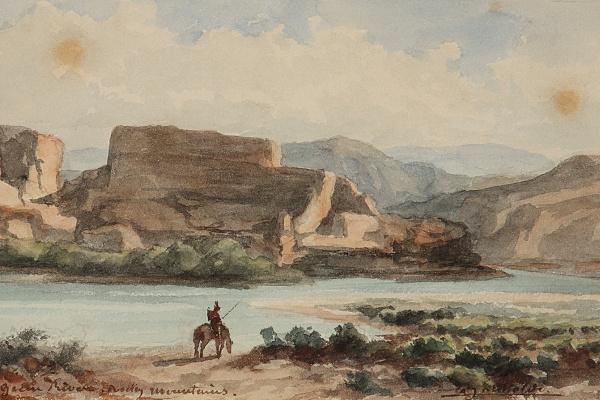 Frederic Auguste Bartholdy. Indien dans les montagnes rocheuses