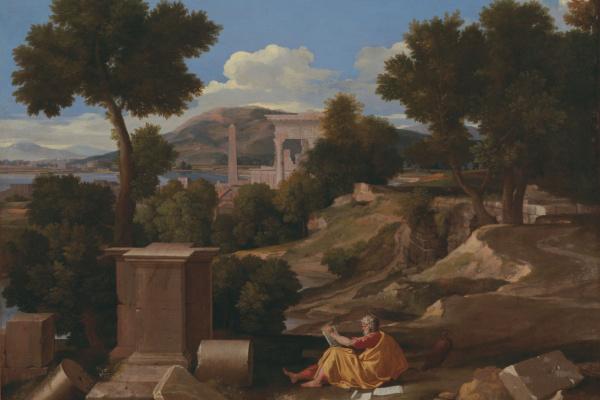 Никола Пуссен. Пейзаж с апостолом Иоанном на острове Патмос