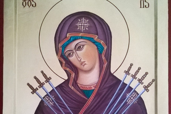 Badri Bukia. Icon of the Virgin Semistrelnaya