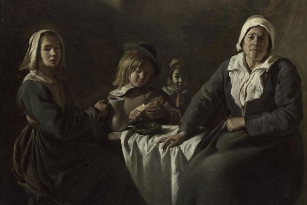 Антуан, Луи и Матье Ленен. Четыре фигуры за столом