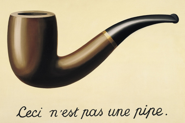Rene Magritte. TheTreachery of Images (This is not a pipe)