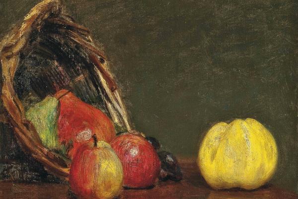Анри Фантен-Латур. Натюрморт с яблоками