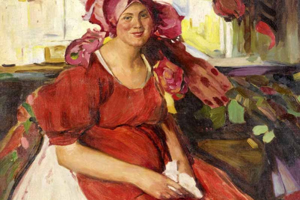Philip Andreevich Malyavin. Woman in red apron