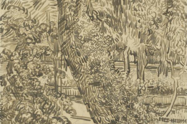 Винсент Ван Гог. Дерево с плющом в больничном саду