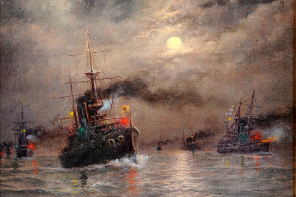 Александр Карлович Беггров. Морской бой. 1880-е