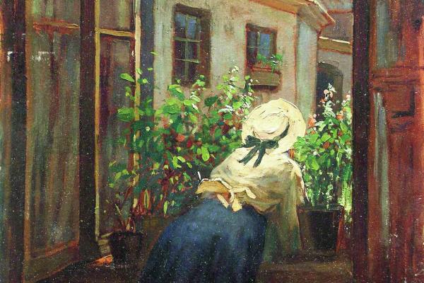 Константин Егорович Маковский. У раскрытого окна