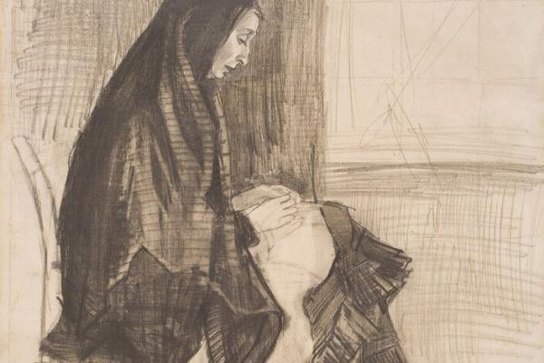 Винсент Ван Гог. Женщина за шитьем