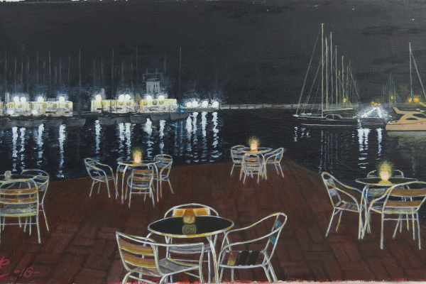 Дмитрий Еременко. Water view of the city of Alicante Yacht Club. Spain