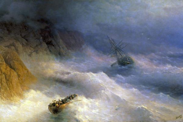 Ivan Aivazovsky. Storm at Cape Aya