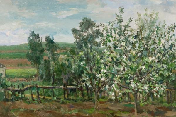 Порфирий Никитич Крылов. Цветущая яблоня. 1935