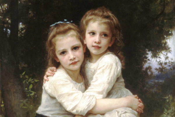 William-Adolphe Bouguereau. Two sisters