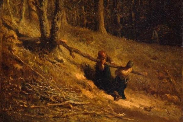Jean-François Millet. A gatherer of firewood (Ugolini)