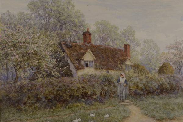 Helen Allingham. Old cottage, Pinner