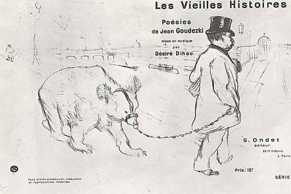 Henri de Toulouse-Lautrec. Poster-advertising poems of Jean Hudeckova